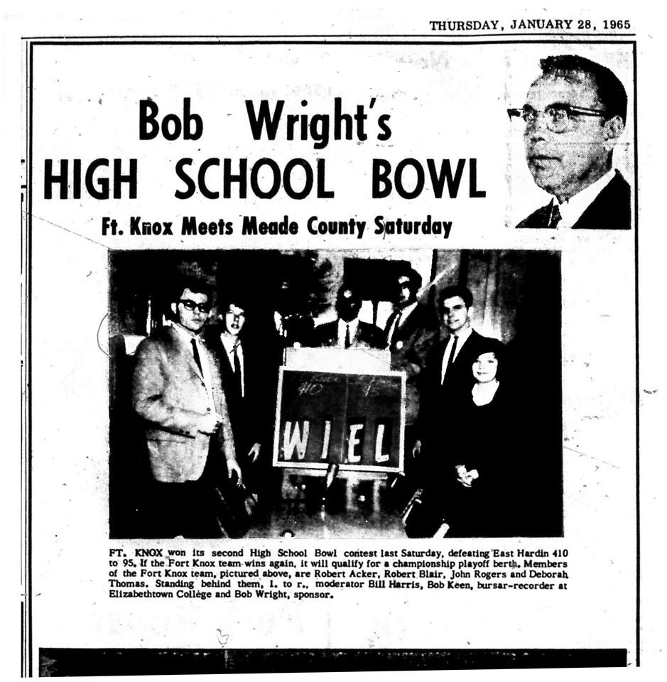Bob Wright's High School